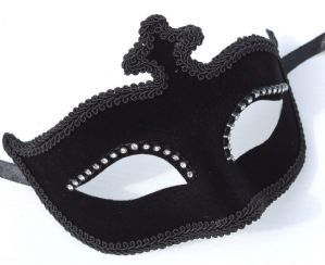 Black Masquerade Mask - Velvet Mask with Glasses | Masks and Tiaras